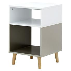 image-Delta Lamp Table - White & Grey