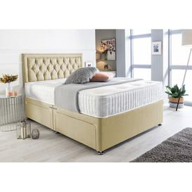 image-Mcclure Bumper Suede Divan Bed Willa Arlo Interiors Size: Super King (6'), Storage Type: 2 Drawers Same Side