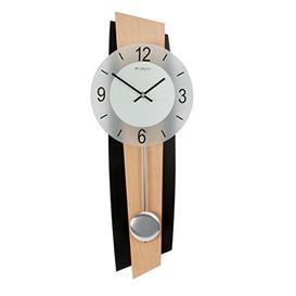 image-Pendulum Wall Clock Black/beech