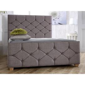 image-Tallapoosa Upholstered Bed Frame Brayden Studio Colour: Steel Plush, Size: Super King (6')