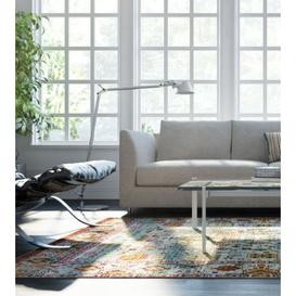 image-Aqua Silk Traditional Patterned Multi Rug 275cm x 366cm