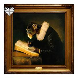 image-Portrait of Chimpspeare Printed Canvas - Wall Art Picture