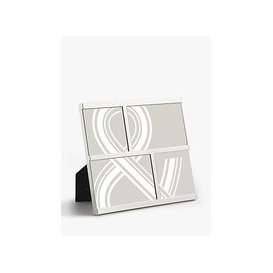 image-John Lewis & Partners Oxford Multi-aperture Photo Frame, 4 Photo, Silver Plated