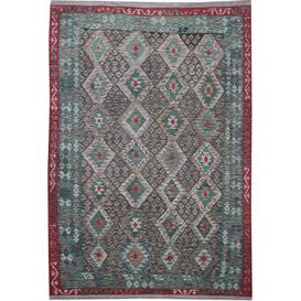 image-Monck Traditional Handmade Kilim Wool Red/Green/Brown Rug Bloomsbury Market