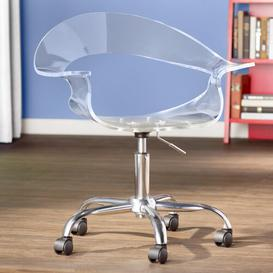 image-Winefred Desk Chair Hashtag Home Colour: Clear