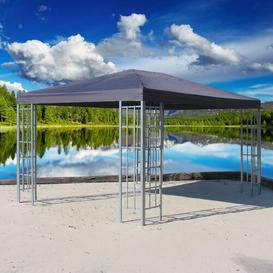 image-Cady 4m x 3m Gazebo Sol 72 Outdoor Roof colour: Charcoal