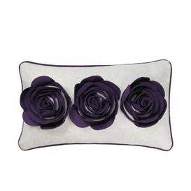 image-Pearson Lumbar Cushion with Filling Happy Larry Colour: Purple