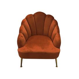 image-Amara Tub Chair Canora Grey Upholstery Colour: Pumpkin