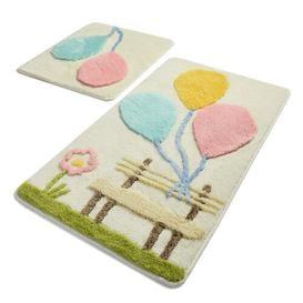image-Izaak 2-Piece Set Rectangle Bath Mat