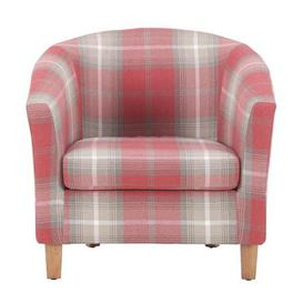 image-Castlebay Tub Chair - Red Red, Grey and White