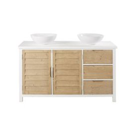 image-Spruce 2-Door 3-Drawer Double Vanity Unit Esterel