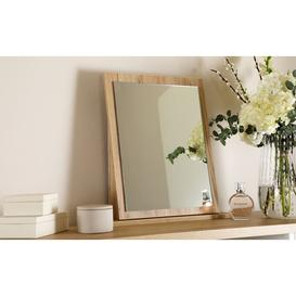 image-Vienna Bordeaux Oak Small Dressing Table Mirror