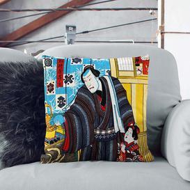 image-Father with Child by Utagawa Kunisada Cushion with Filling