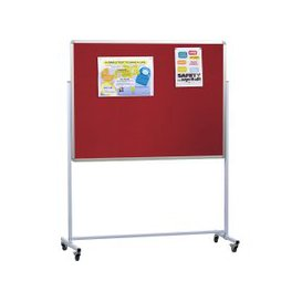 image-Double Sided Mobile Aluminium Noticeboard, Blue, Free Standard Delivery