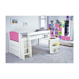 image-Stompa UNO S 9 Midsleeper with Pull Out Desk and Chest of Drawers