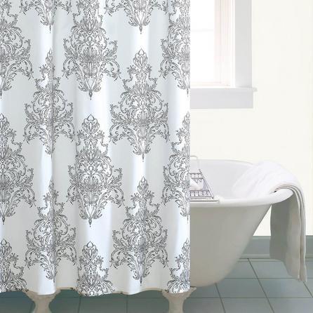 image-Versailles White Shower Curtain White