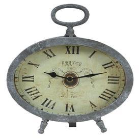 image-Oval Table Clock Fleur De Lis Living