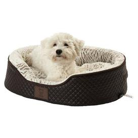 image-Bunty Brown Manhattan Quilted Dog Bed Brown