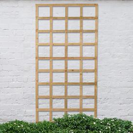 image-Stephany Wood Lattice Panel Trellis (Set of 3) Sol 72 Outdoor Size: 183cm H x 91cm W, Colour: Brown