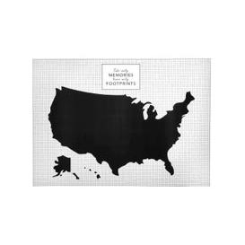 image-Black and White United States Wall Sticker
