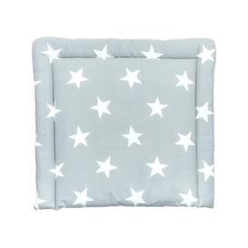 image-Big Grey Stars Changing Mat KraftKids Size: 70cm H x 60cm W x 4cm D, Colour: Grey/White