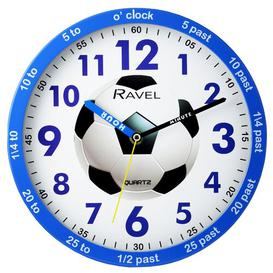 image-Children's Time Teacher 25cm Wall Clock Ravel Colour: Blue/White