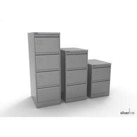 image-3 Drawer Filing Cabinet Symple Stuff Colour: Silver