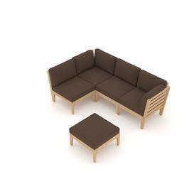 image-Tatti Garden Corner Sofa with Cushions Sol 72 Outdoor Colour (Fabric): Brown