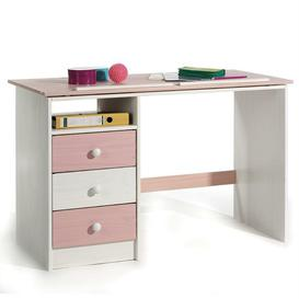 image-Fisher 115cm Writing Desk Isabelle & Max Colour/Finish: White/Pink