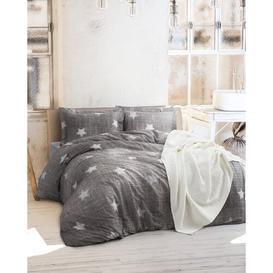 image-Mcclure Duvet Cover Set August Grove Colour: Grey/White