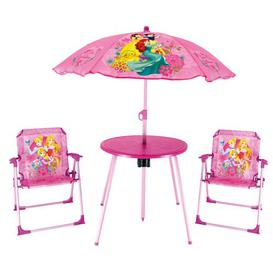 image-Celeste Children's 4 Piece Round Table and Chair Set Disney Princess