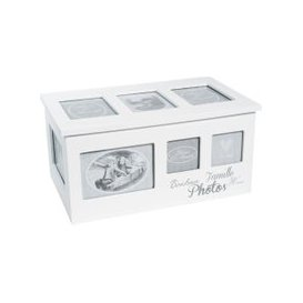 image-Wooden Box with 8 White Photo Albums 20x34