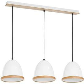 image-Lockesburg 3-Light Kitchen Island Pendant Fj├╕rde & Co Finish: White