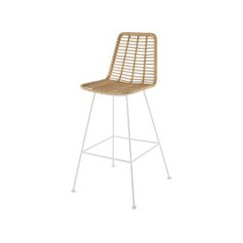 image-Professional White Metal and Resin High Garden Chair Selva BUSINESS