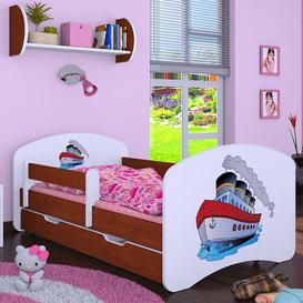 image-Manzi Cot Bed / Toddler (70 x 140cm) Bed Frame with Drawer Isabelle & Max Colour (Bed Frame): Brown