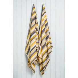 image-Kingsley Pair of Striped Jumbo Towels