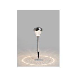 image-John Lewis & Partners Onslow Solar LED Outdoor Stake Lights, Chrome, Set of 2