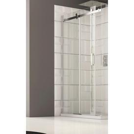 image-Neopol Frameless Tempered Glass Single Sliding Shower Door