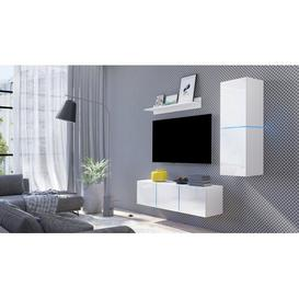 "image-Lapham Entertainment Unit for TVs up to 50\"" Mercury Row Colour: White Gloss"