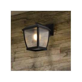 image-Seattle Outdoor Wall Light In Black With Clear Acrylic Panels