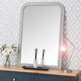 image-Salzburg Grey Arched Rectangular Wall Mirror 70 x 100cm