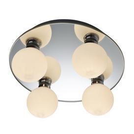 image-Firstlight 8106 Showtime Mirror 4 Light Bathroom Ceiling Flush Light