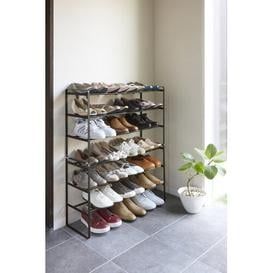 image-3 Tier Frame Expandable 12 Pair Shoe Rack Yamazaki Finish: Black