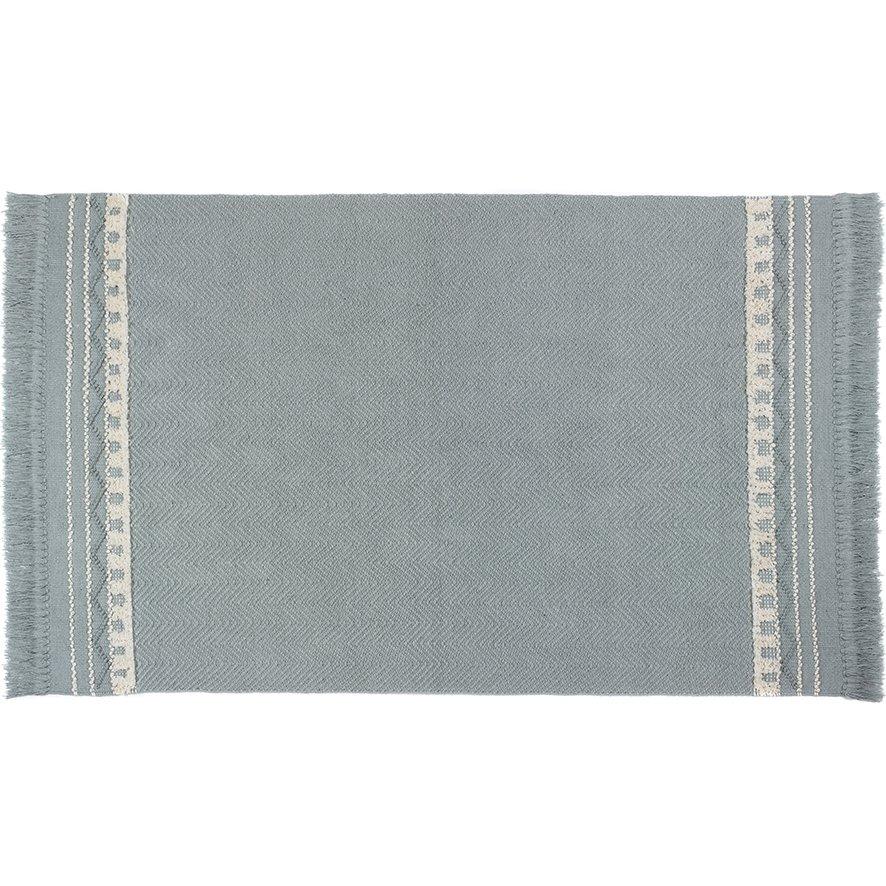 image-Rustic Trim Rug 80 x 150cm, Sky Grey / Cream