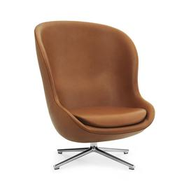 image-Normann Copenhagen - Hyg Swivel High Lounge Chair - Ultra Leather
