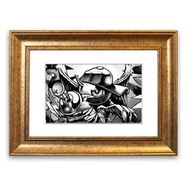 image-'Spray Can Kid' Framed Graphic Art East Urban Home Size: 30 cm H x 40 cm W, Frame Options: Gold