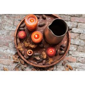 image-Cylinder Unscented Jar Candle J-Line Size: 15cm H x 7cm W x 7cm D, Colour: Christmas Red