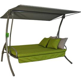 image-Leaver Swing Seat with Stand Sol 72 Outdoor Colour: Green/Beige