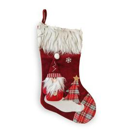 image-Santa Christmas Stocking Red & Faux Fur 20 Inch