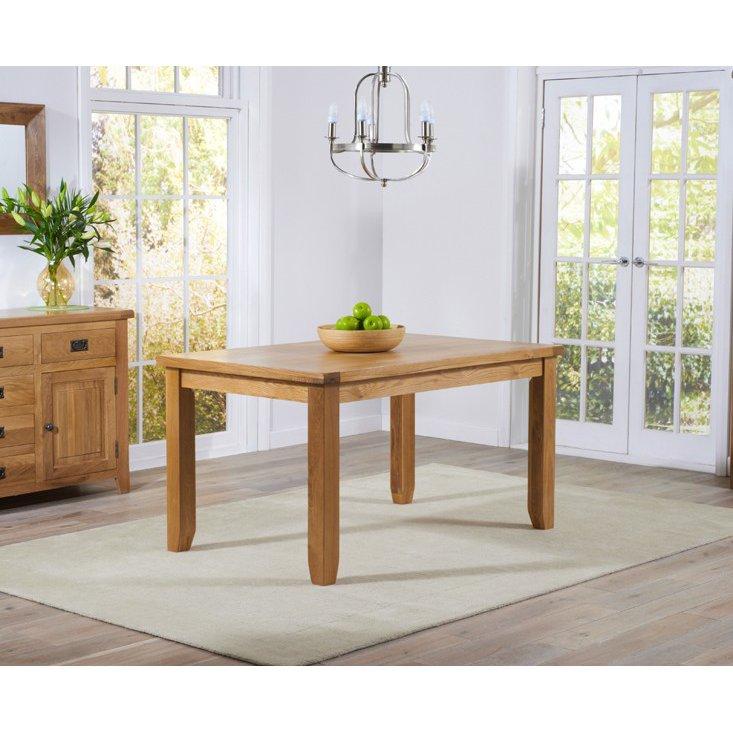 image-York Light Oak Dining Room Furniture Dining Table 140cm